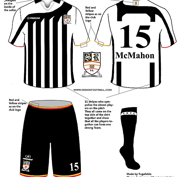 Stafford Rangers FC 09/10 Home Kit