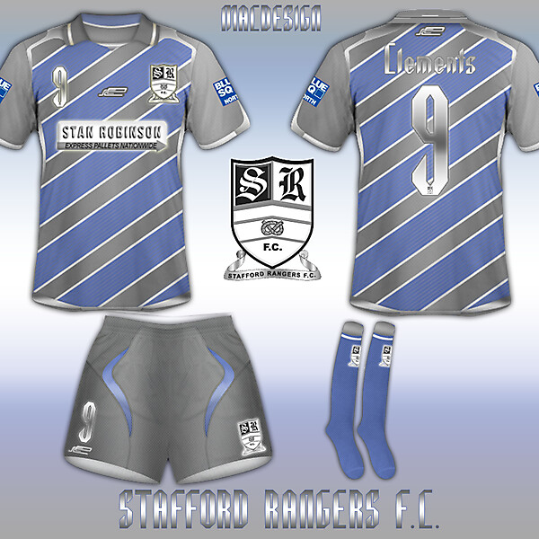 Stafford Rangers Special Silver Kit