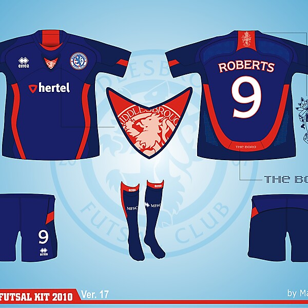 Middlesbrough Futsal Club Kit - Version .17