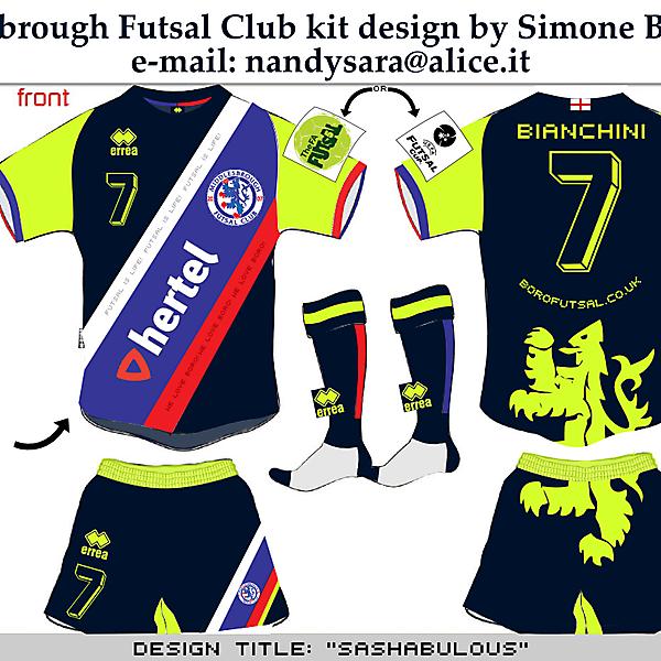 Middlesbrough Futsal Club kit design by Simone Bianchini