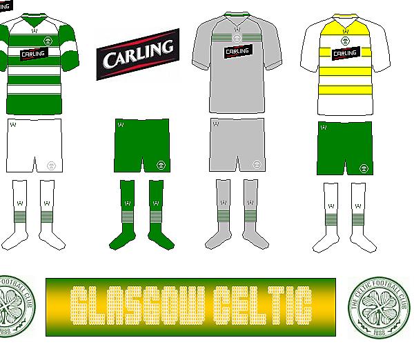 Celtic 2010/11 Kits by Wondermaze