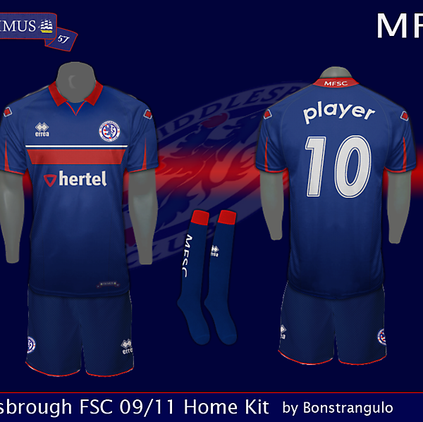 Middlesbrough Home Kit 09/11