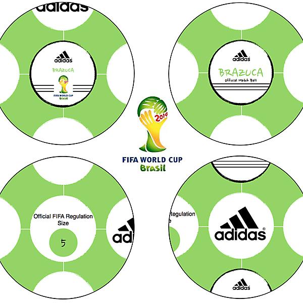 World Cup 2014 Brazuca Official Match Ball Design