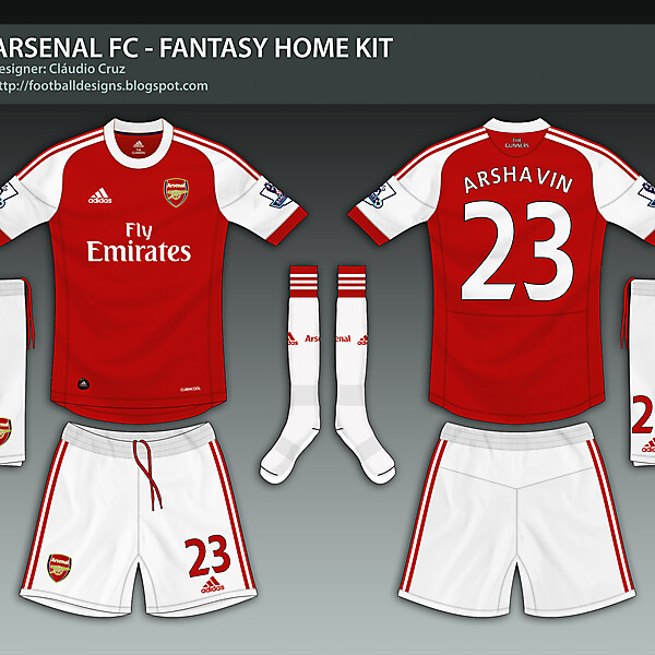 Arsenal FC - 2013 / 2014 Fantasy Adidas Kit