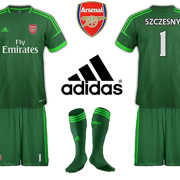 Arsenal Adidas Goalkeeper Kit