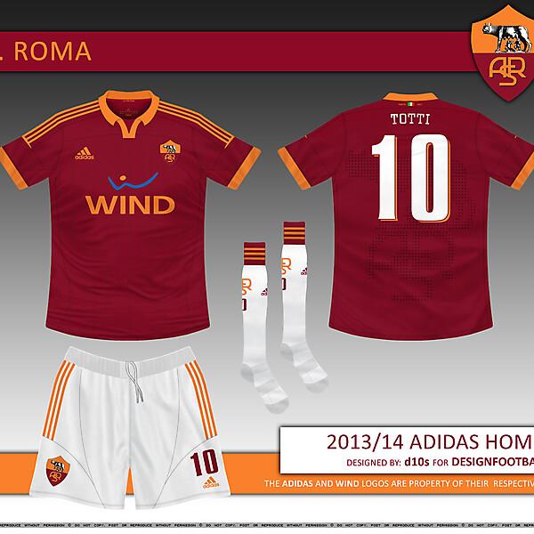 AS Roma 2013/14 Adidas Home Kit