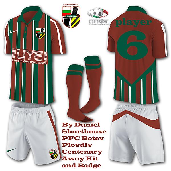 PFC Botev Plovdiv Away Kit for Centenary Year