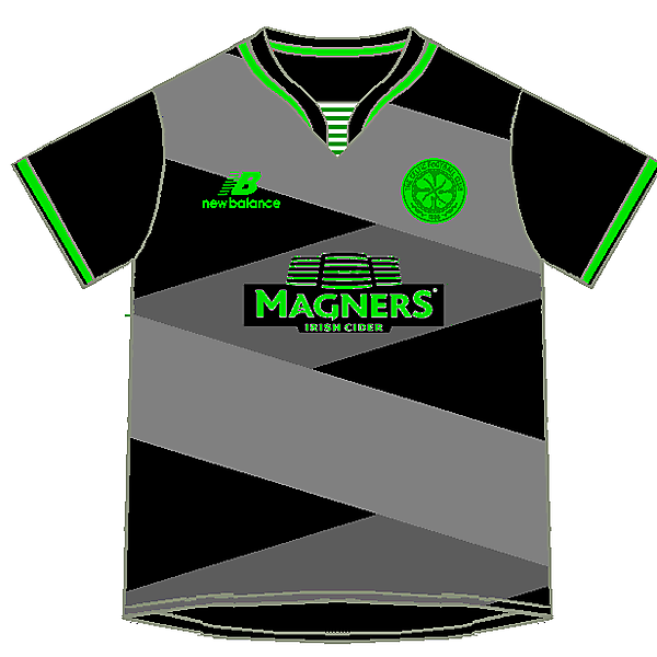 Celtic Home, away and third kits