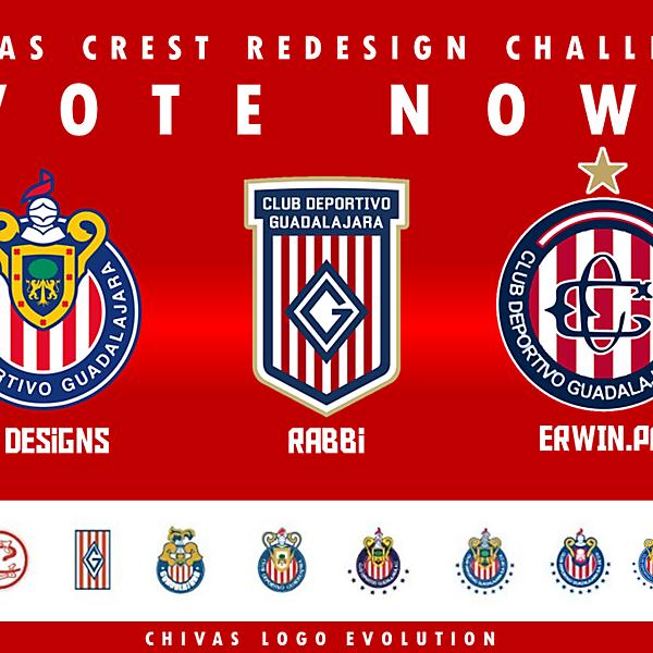 VOTE FOR THE BEST! - CHIVAS CREST REDESIGN CHALLENGE