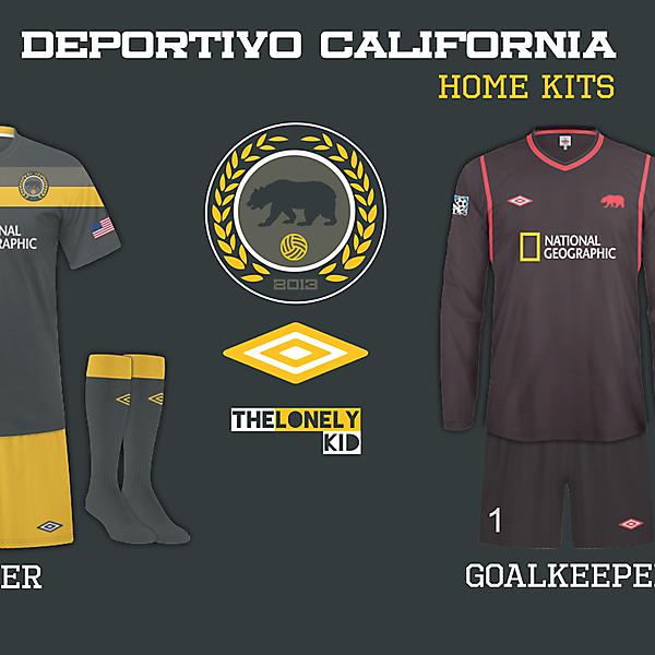 Deportivo California Home Shirts
