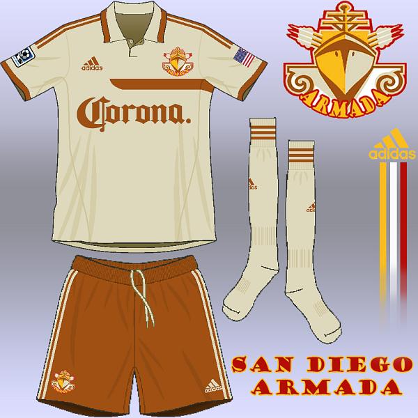 San Diego Armada -- away kit --
