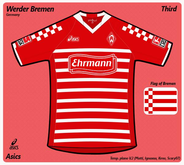 Werder Bremen third (asics)