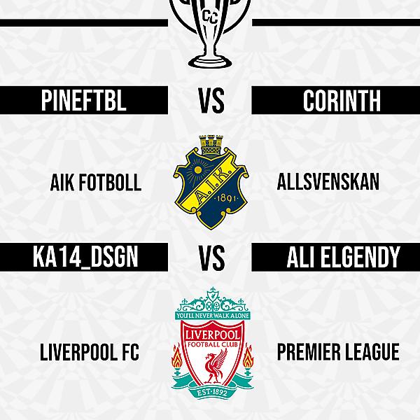 Quarter Final Fixtures 1