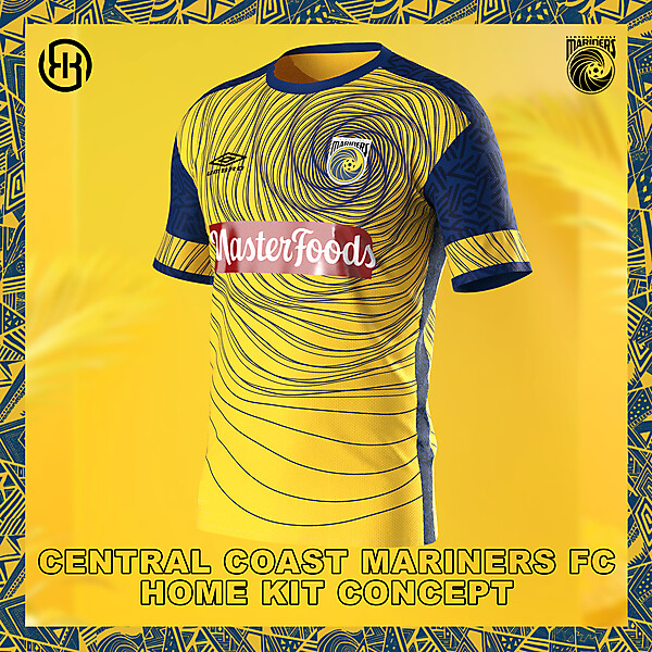 Central Coast Mariners FC | Home kit concept