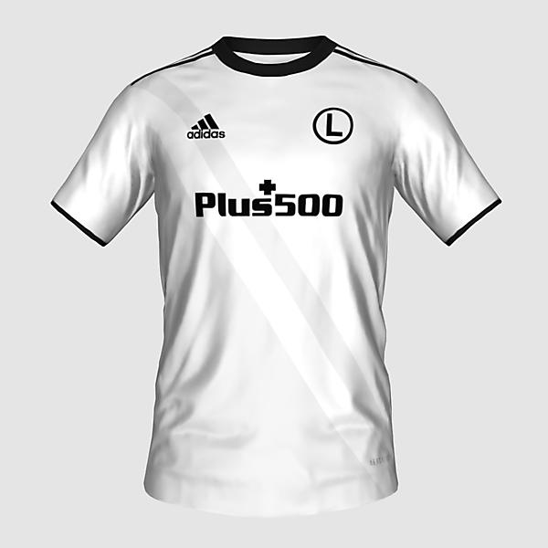 Legia Warsaw home kit by @feliplayzz