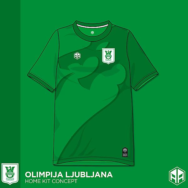 Olimpija Ljubljana home kit concept
