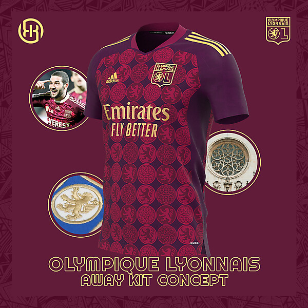 Olympique Lyon | Away kit concept