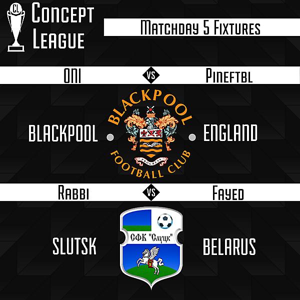 Premier League Matchday 5 Fixtures