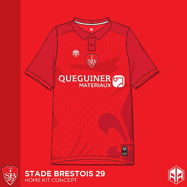 Stade Brestois 29 home kit concept