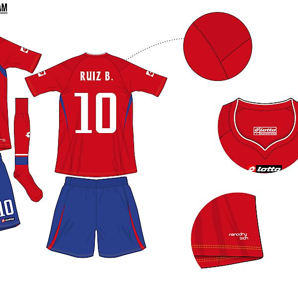 Costa Rica Home - Copa América Design Football
