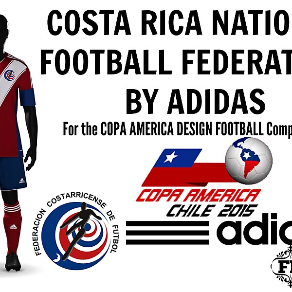 Costa Rica Kit by Adidas . - Copa America Competition