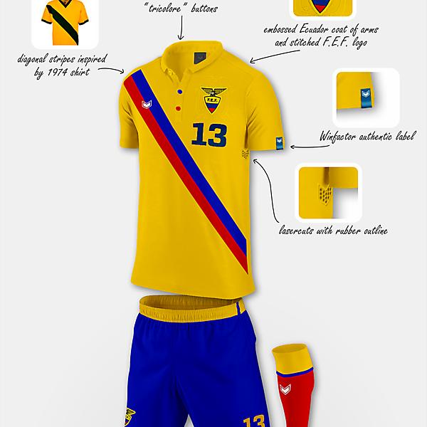 Ecuador home kit - Copa América Design Football