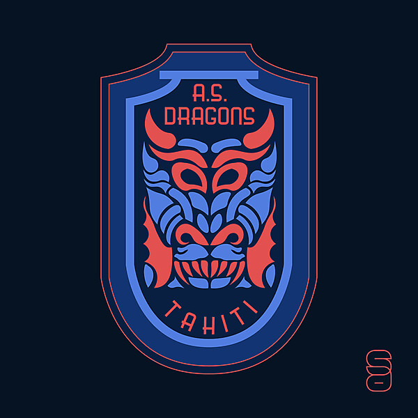 A.S. Dragons Crest Redesign