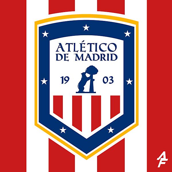 Atlético de Madrid   Crest Redesign