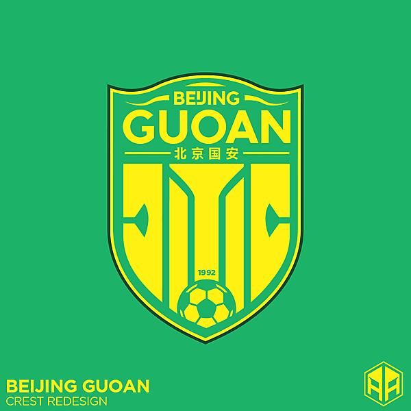 Beihing Guoan crest redesign