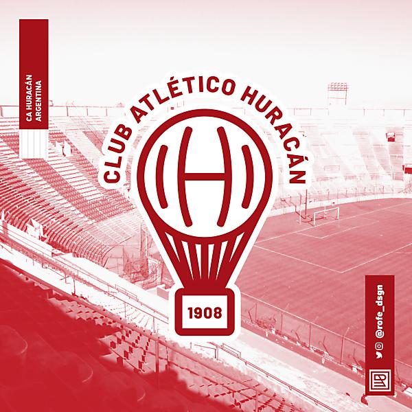 Club Atlético Huracán   Rebranding By @rofe_dsgn