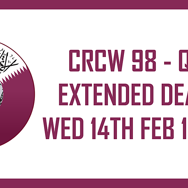 CRCW98 - DEADLINE EXTENSION