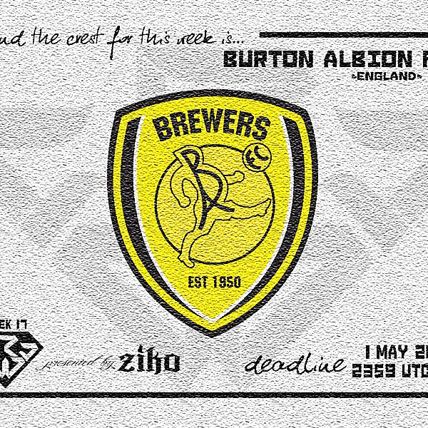 CRCW - WEEK 17: Burton Albion FC