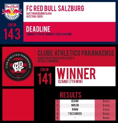 CRCW 143 | FC RED BULL SALZBURG | CRCW 141 | RESULTS