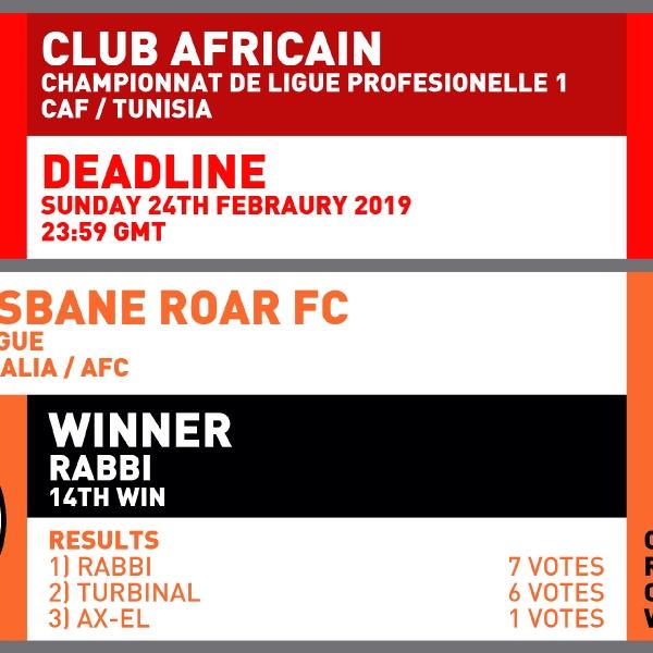 CRCW 146 CLUB AFRICAIN | CRCW 144 RESULTS