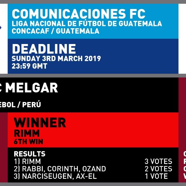 CRCW 147 COMUNICACIONES FC | CRCW 145 RESULTS