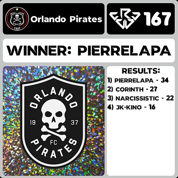 CRCW 167 RESULTS - ORLANDO PIRATES
