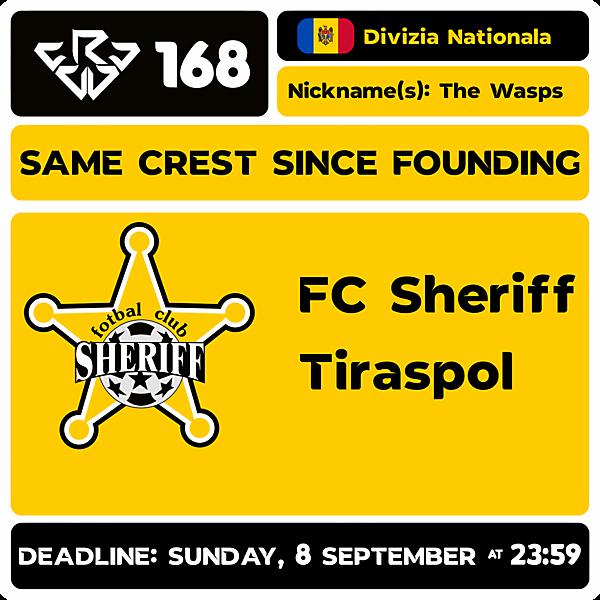 CRCW 168 - FC SHERIFF TIRASPOL