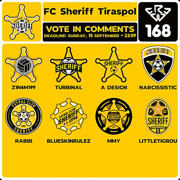 CRCW 168 VOTING - FC SHERIFF TIRASPOL