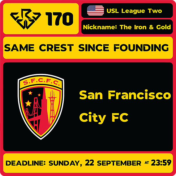 CRCW 170 - SAN FRANCISCO CITY FC