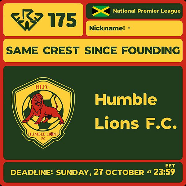 CRCW 175 - HUMBLE LIONS F.C.