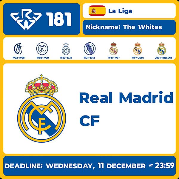CRCW 181 - REAL MADRID CF