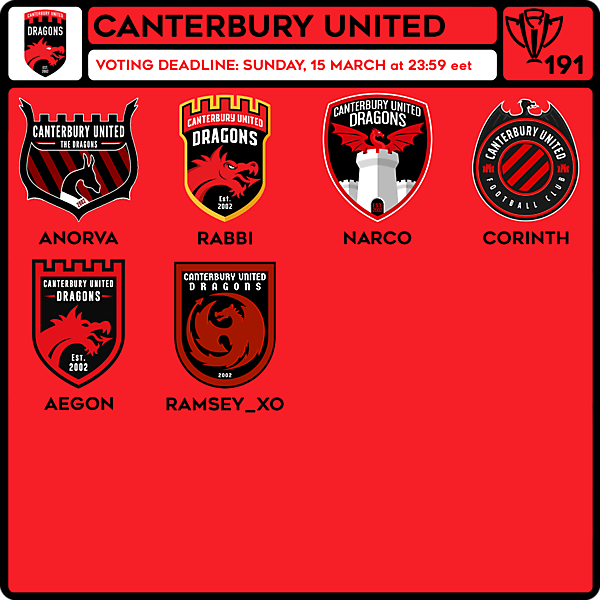 CRCW 191 VOTING - CANTERBURY UNITED DRAGONS