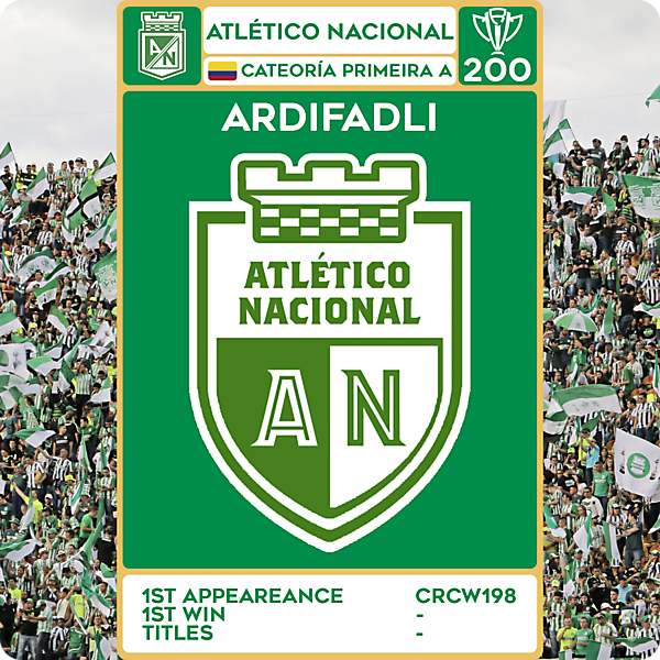 CRCW 200 - SPECIAL EDITION - ATLÉTICO NACIONAL - ARDIFADLI