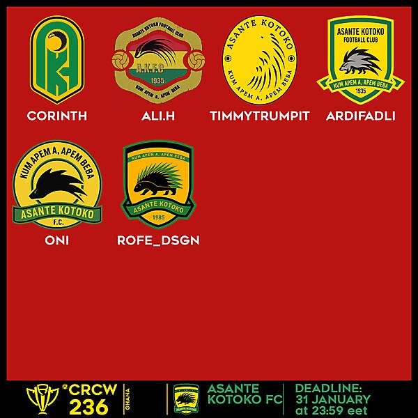 CRCW 236 VOTING - ASANTE KOTOKO FC