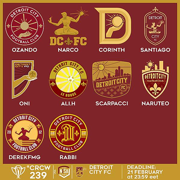 CRCW 239 VOTING - DETROIT CITY FC