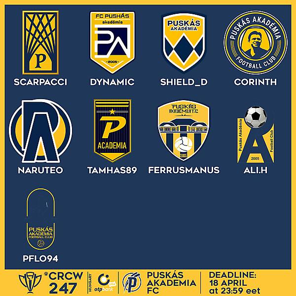 CRCW 247 VOTING - PUSKÁS AKADÉMIA FC