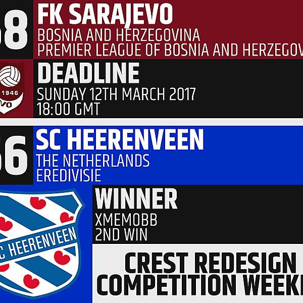 CRCW 58 - FK Sarajevo / CRCW 56 Winner - xMemoBB