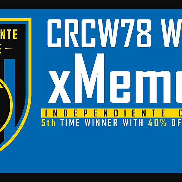 CRCW 78 - WINNER