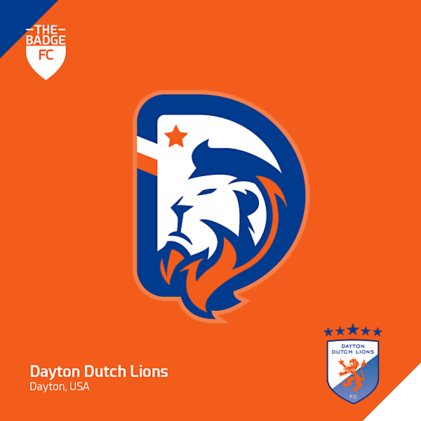 Dayton Dutch Lions Badge Redesign Concept by @thebadgefc - CRCW 212