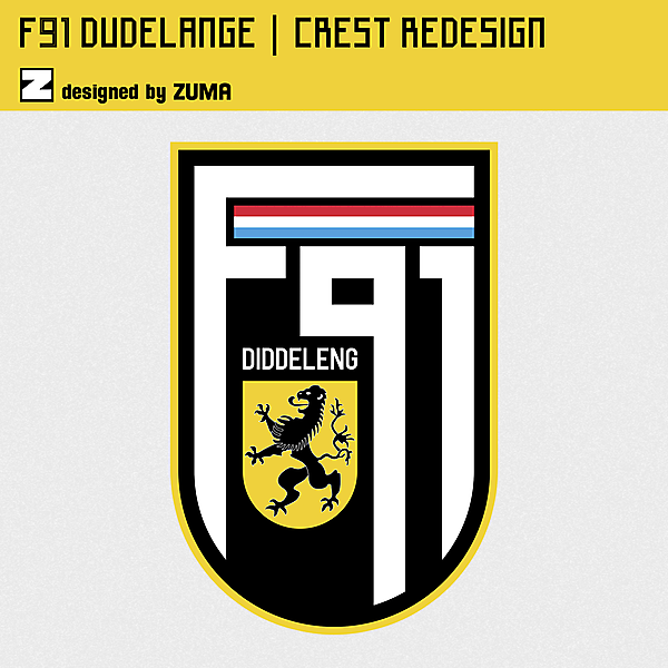 F91 Dudelange   Crest Redesign